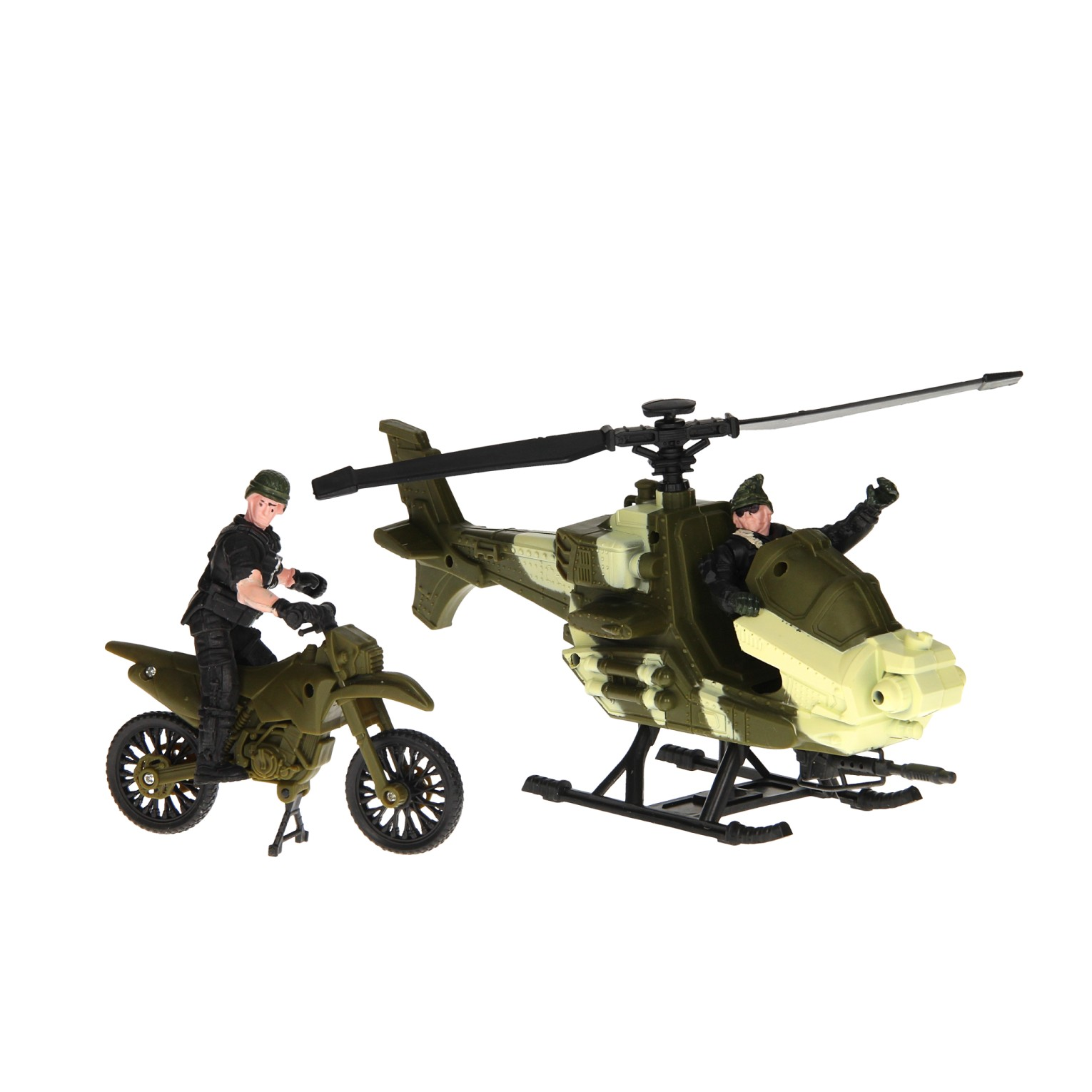 Army Forces Speelset - Helikopter en Motor